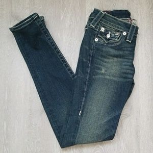 Blue denim true religion jeans